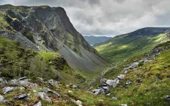 природа, горы, долина, небо, дорога, природы, pass, памятник, тучи, national, праздники,
