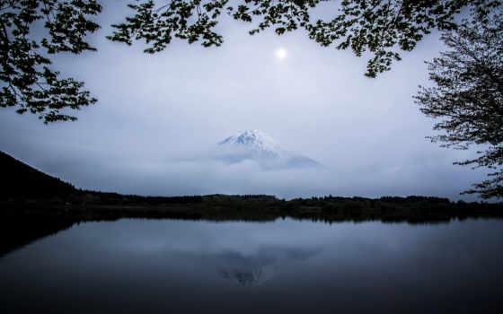 фудзи, гора, япония, озеро, mountains, japanese, lakes, природа,