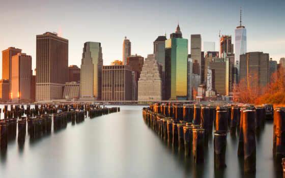 new, york, skyline, нью, город