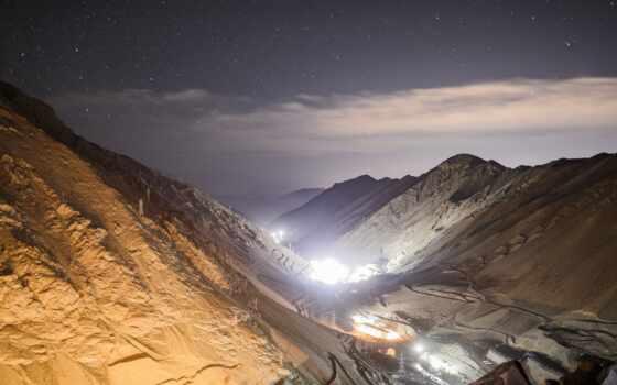 анды, кордильеры, chile, mine, camp, gutus, ночь, берег, гора, photorator