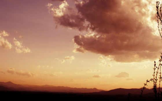 пейзаж, облака