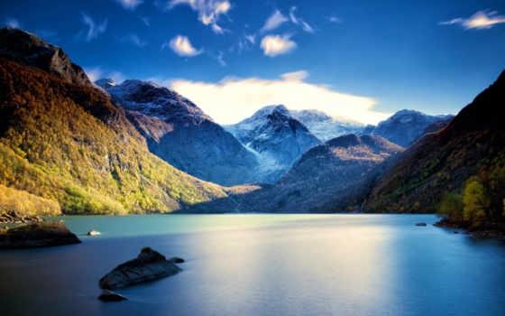озеро, пейзаж