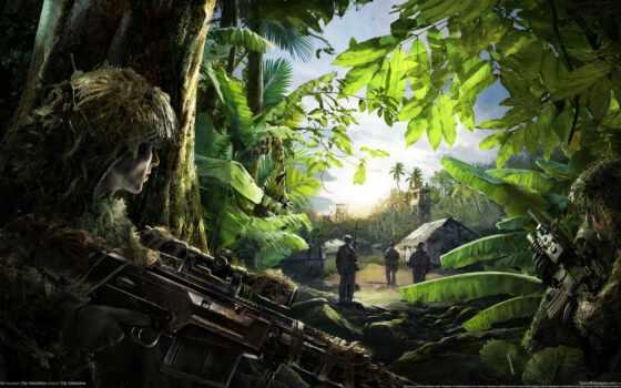 снайпер, ghost, воин Фон № 107298 разрешение 2560x1440