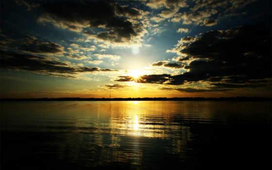 закат, озеро, результатов