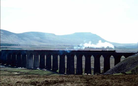 поезд, vehiclehi, мост