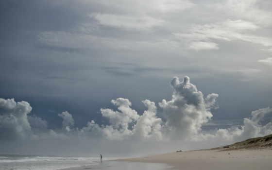 небо, море, landscape