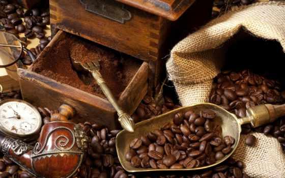 кофе, зерна, напитки