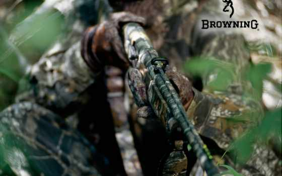 оружие, ружьё, маскировка, лес