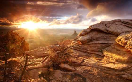 солнца, rising, sun