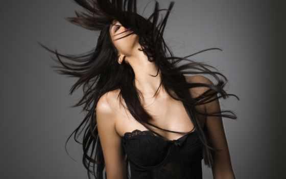 волосы, devushki, волосами, девушка, длинными, ночнушка, взгляд, кудри, everything,