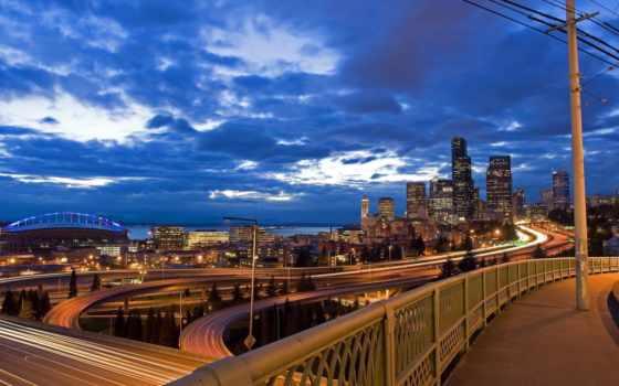 город, highway, exposure, long, ночь, desktop, new, high,