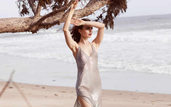 lily, collins, was, magazine, pinterest, shape, her,