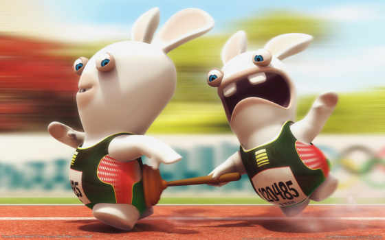 rayman, raving, rabbids, tv, party, вантус, кролики,