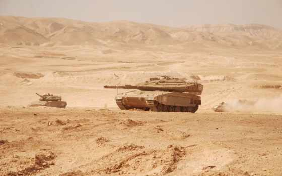 merkava в пустыне
