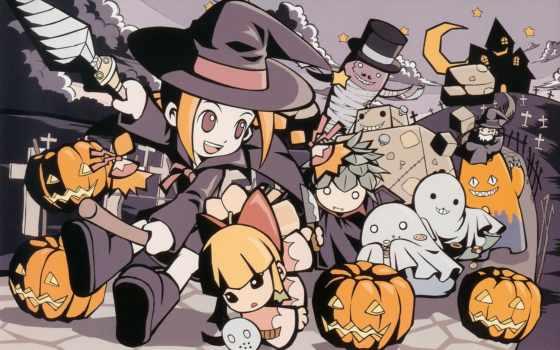 аниме, halloween