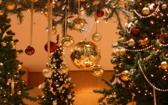 новогодняя, елки, новогодние
