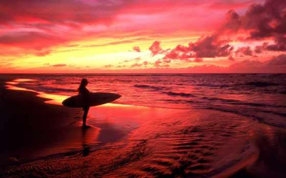 сёрфинг, фотообои, surfer, природа, стену,