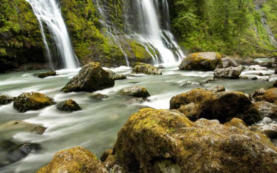 камни, природа, пейзажи -, landscape, водопад, favourite, video, dailymotion, водопады, falls,