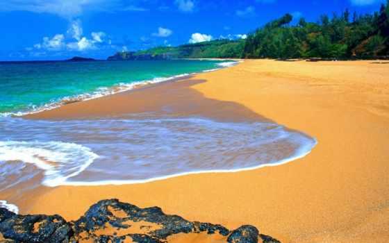 природа, телефон, картинку, пляж, песок, hawaii, компьютера, февр, hdr, планеты, две,