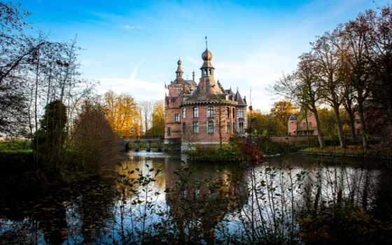 замки, красивые, нояб, природа, collector, ooidonk, экспрессивных, фотографий,