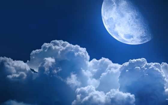 oblaka, звезды, star, луна, cosmos, планеты, ночь, небо, облако, planet, фоны,