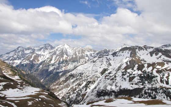 альпы, горы, oblaka