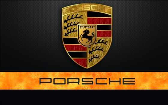 эмблема, логотип, porsche