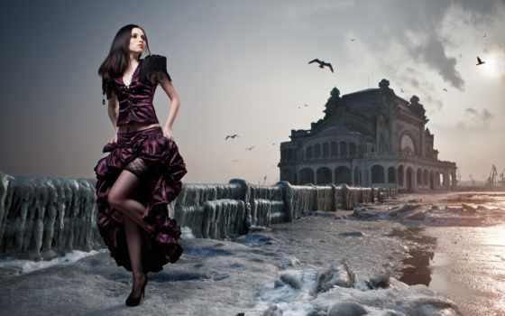 даниэль, ilinca, ножки, stockings, лед, платье,