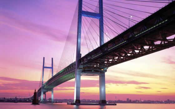 мост, yokohama, япония