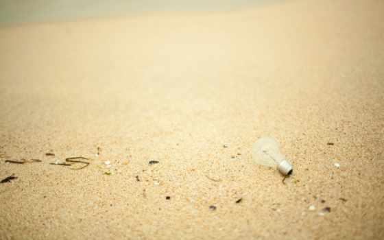 песок, пляж, макро