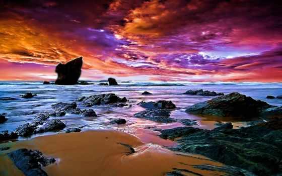 stormy, пляж, волна, pictures, страница, море, lighthouse,