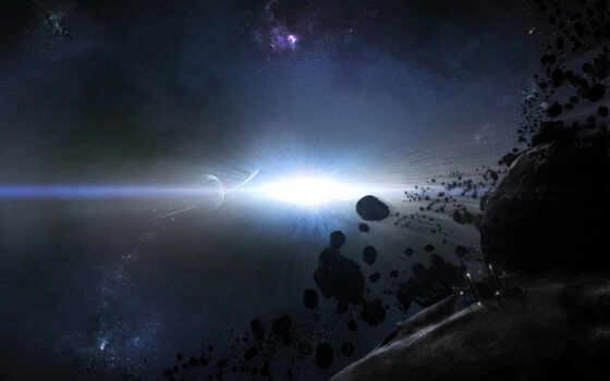 космос, planet, взрыв