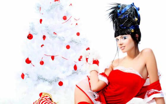девушка, молодой, white, royalty, женщина, portrait, fashion, christmas