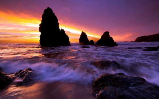 побережье, california, июня