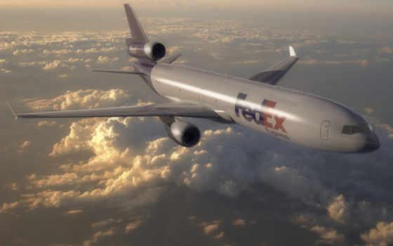 самолеты, пассажирские, полет, oblaka, рисованные, авиация, небе,