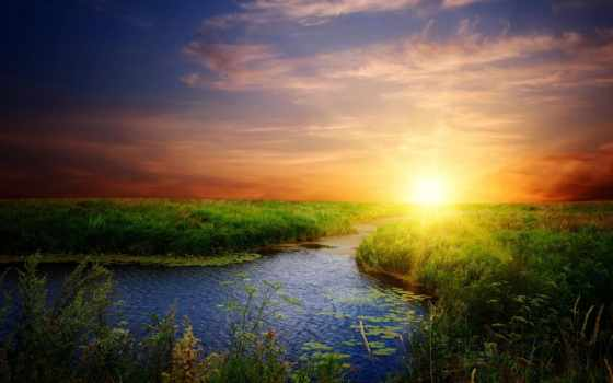 солнца, восходящего, атмосфера, захода, утреннего, sun, rising, time, сегодня, со, rays,