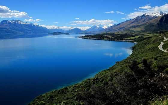 озеро, wakatipu, самая, красивые, wallpapersafari,