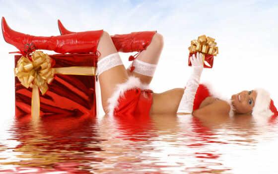 vacation, санта, девушка, erotique, lingerie, dan, femme, belle, catégorie, weihnachten, anton