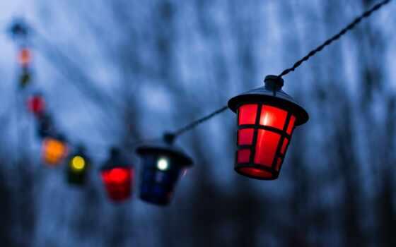 pantalla, fondo, лампа, noche, farol, размытость, farole, огни