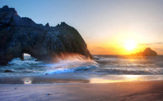zakat, пляж, more