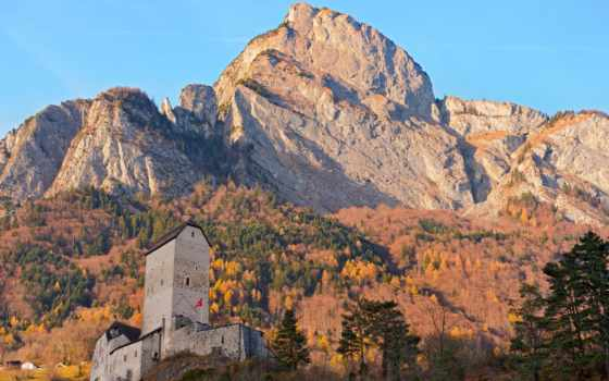 castle, швейцария, sargans