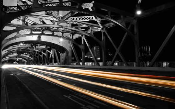 ночь, дорога, картинка