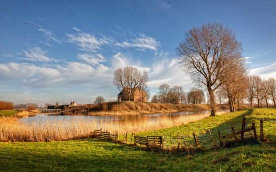 природа, нидерланды, красивые
