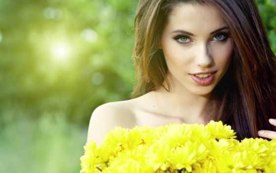 девушка, весна, цветы