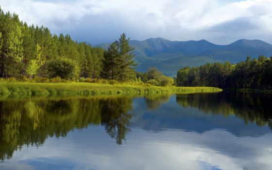 landscape, natural, природных, площадь, природы, северо, зеркало, насаждения, елочные, озеро,
