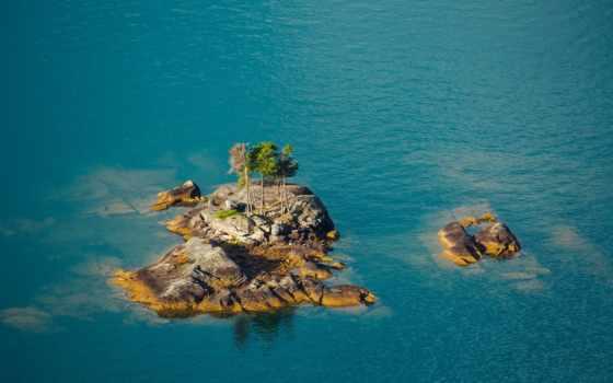 озеро, море, desktop, скалы, дерево, like, bears, пляж,