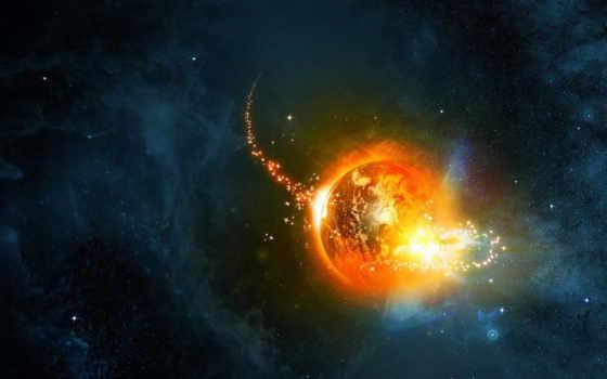 аномалия, космическая, планета, туманность, звезды, drum,