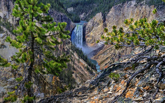lower, falls, yellowstone