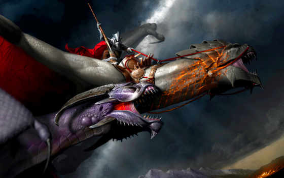 дракон, рыцарь, fantasy, dota, digital, pinterest, dragons,