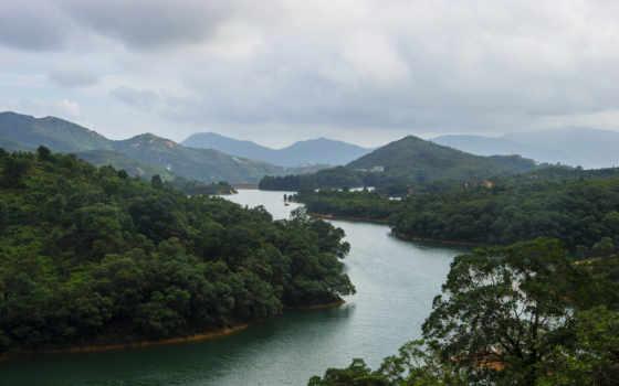 hong, china, kong, chiny, китаянка, rivers, las, góry, природа, landscape, photography,